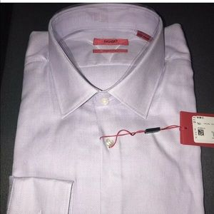 NWT 2 Hugo Boss Sharp Fit 17 34/35 dress shirts